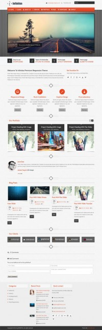 Infinitus, WordPress Premium Responsive Business Theme | WP Download