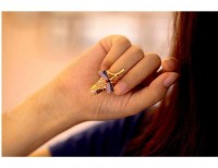 Fashion Personality Gold Alloy With Dragonfly Shape Nail Rings - DualShine
