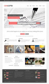 Concepto, WorPress Responsive Clean Business Theme | WP Download