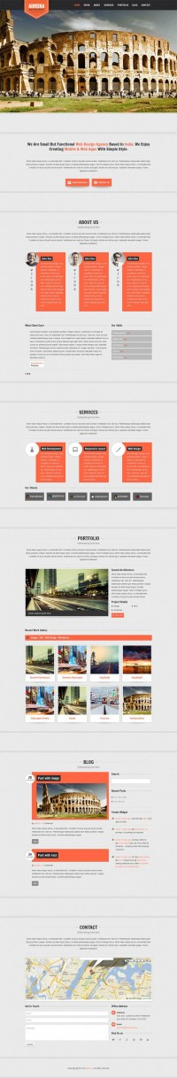 Alveera, WordPress Premium Single Page Portfolio Theme | WP Download