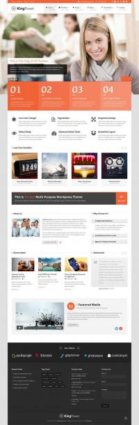 King Power, WordPress Retina Ready Multi-Purpose Theme | WP Download