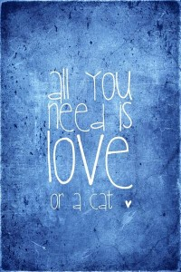 All you need is love or a cat Art Print by M?nika Strigel | Society6