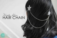 Minted Strawberry: DIY: Triple Star Hair Chain