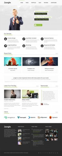 Jungle, WordPress Responsive Green Business Theme | WP Download