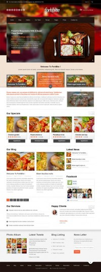 Forkbite, WordPress Restaurant Food Recipes Theme | WP Download