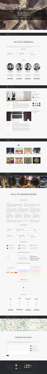 Elevetis, WordPress Premium One Page Responsive Theme | WP Download