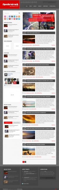 ThunderStruck, WordPress Left Sidebar Magazine News Theme | WP Download