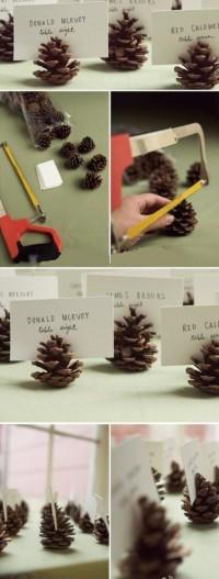 DIY Pine Cone Business Card Holder DIY Projects | UsefulDIY.com