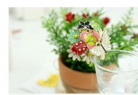 Korean beautiful flowers the coccinella septempunctata butterfly ring - DualShine