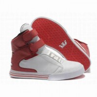supra tk society high top white and red leather for sale