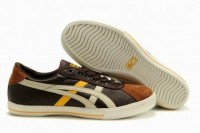 wholesale brown beige yellow asics tiger rotation 77 shoes