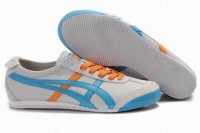 white sky blue orange asics mexico 66 sneakers for men
