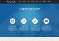 Core, WordPress Responsive Blue One Page Theme | WP Download