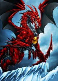 devil dragon in the snow by *CHerrera-ilustrador