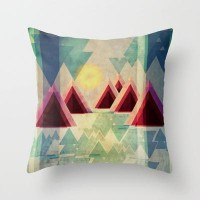 Mountain Lake Throw Pillow by VessDSign | Society6