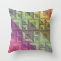 Rainbow Throw Pillow by VessDSign | Society6