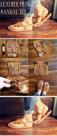 DIY Leather Fringe Sandal DIY Projects | UsefulDIY.com