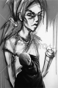 Graffiti Girl on The Wall - Miscellaneous Photography - 54ka StockPhoto