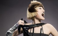 leather blondes models fashion short hair open mouth closed eyes bangs hairstyle - Wallpaper (#2327738) / Wallbase.cc
