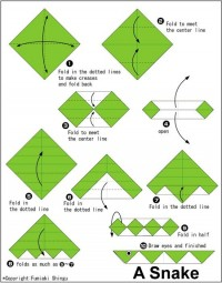 Origami Simple Snake Folding Instructions | Origami Instruction