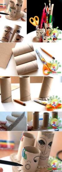 DIY Toilet Paper Roll Pencil Holder DIY Projects | UsefulDIY.com