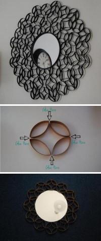 DIY Toilet Paper Roll Round Mirror Frame DIY Projects | UsefulDIY.com