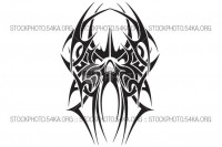 Tattoo Skull Tribal Vector Design - Graphics Vector Art - 54ka StockPhoto