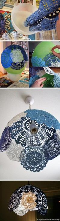 DIY Mediterranean-Style Lace Lamp DIY Projects | UsefulDIY.com