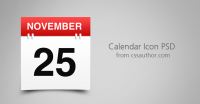 Awesome Free Download Calendar Icon PSD - Freebie No: 5