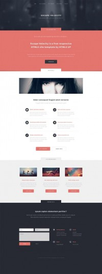 Escape Velocity, a responsive site template by ~nodethirtythree