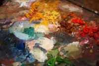 Colorful Paint Art Palette - Abstract Royalty Free Stock - 54ka StockPhoto