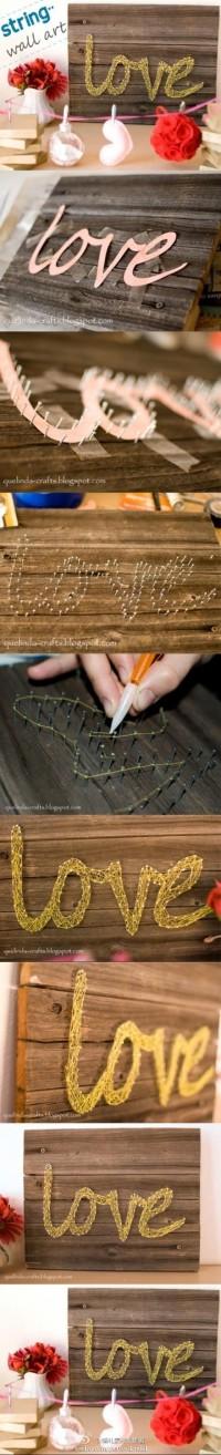 DIY String Wall Art DIY Projects | UsefulDIY.com