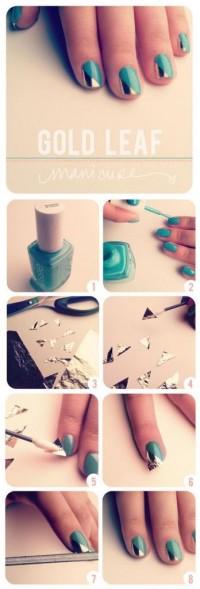 DIY Gold Leaf Nail Art DIY Projects | UsefulDIY.com
