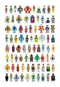 Pixel Heroes Art Print by Pahito | Society6