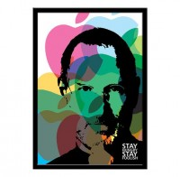 Stay Hungry Stay Foolish Steve Jobs Quote A3 size by LabNo4