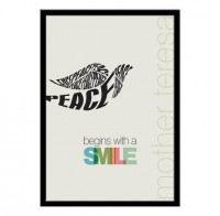 Peace Begins with a Smile Mother Teresa Quote & by LabNo4 on Etsy