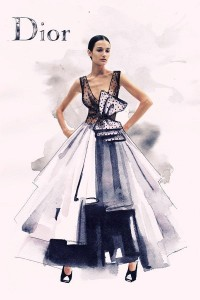 Photography mixed with fashion illustration on Illustration Served