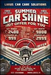 Car Shine Poster by ~gufranshaikh