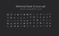 Free Download Minimal Dark UI icon set - Freebie No: 7