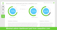 Free Download Minimal Admin Dashboard PSD - Freebie No: 9