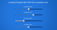 Download Free Progress and Loading Bars PSD - Freebie No: 16