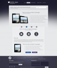 Professional Premium Website Design Template for iPad and iPhone Application Free Download - Freebie No: 19