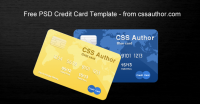 Awesome Credit Card Template PSD for Free Download - Freebie No: 21