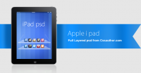 Beautiful Apple iPad PSD for Free Download - Freebie No: 31