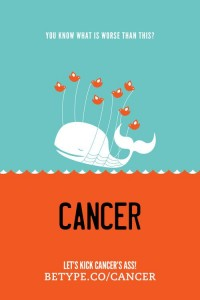 Type Against Cancer by Byron Galan | inspirationfeed.com