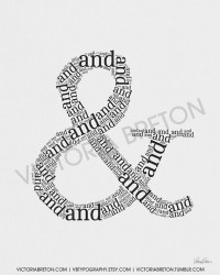 And Symbol & 11x17 typography print ampersand by vbtypography