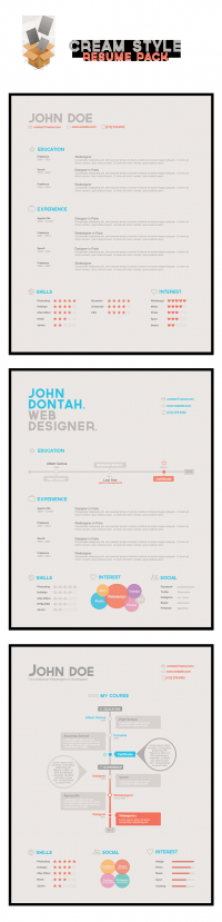 Cream Style Resume Pack | Agence Me