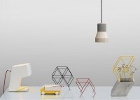 Workaholic lamps, vase and desk organiser by THINKK Studio