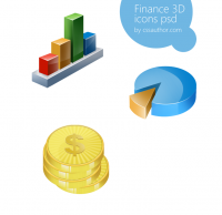 Awesome Finance 3D Icon Set PSD for Free Download - Freebie No: 36