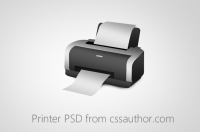 Beautiful Printer PSD for Free Download - Freebie No: 45